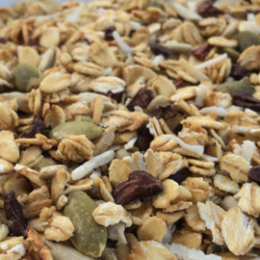 Crunchy toasted cacao & coconut muesli (gluten free)